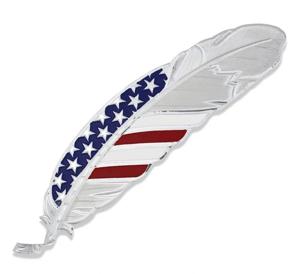 USA Flag Hat Feather