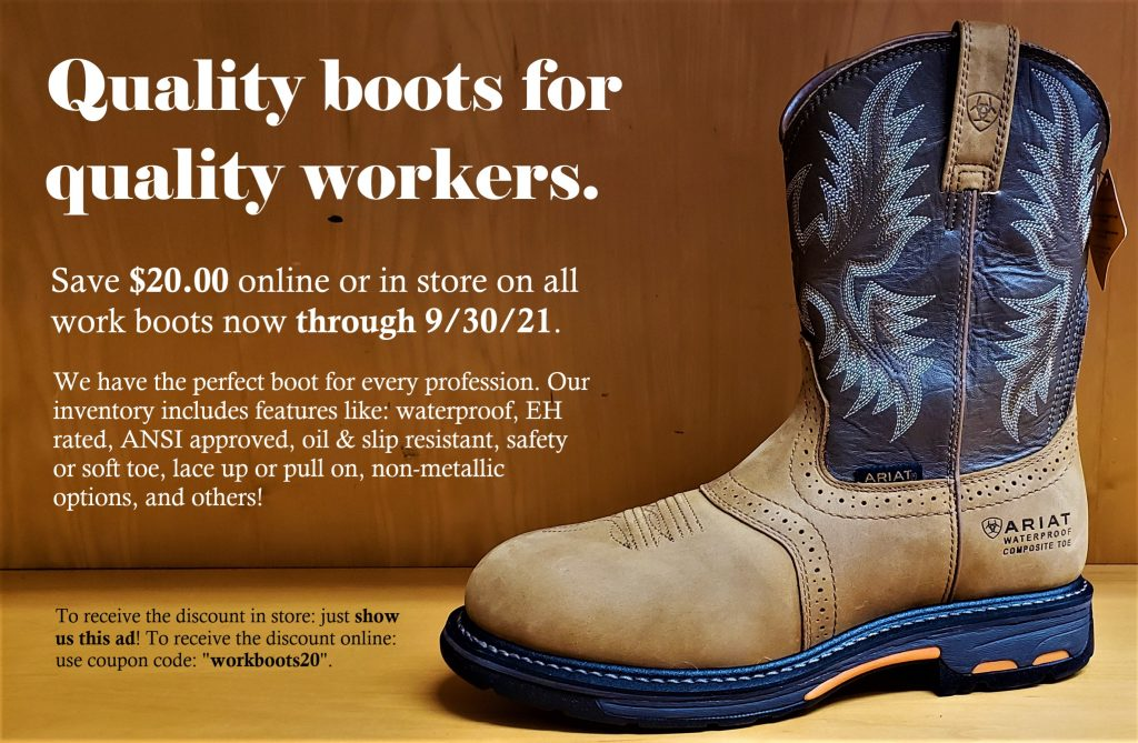 Spencer's Summer Work Boot Sale