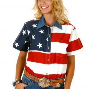 Women's Patriot Flag Shirt