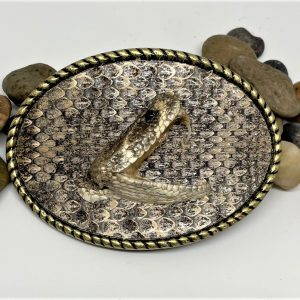 Rattlesnake Belt Buckle with Head Inlay
