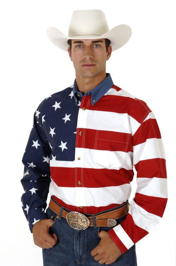 Men's Patriot Flag Shirt