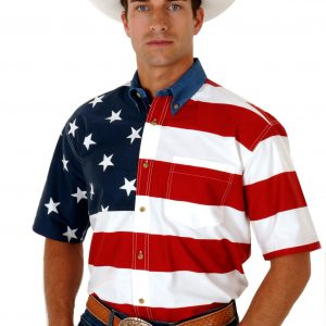 Men's Patriot Flag Shirt in Short Sleeve